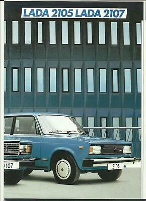 LADA 2105 AND 2107 SALES BROCHURE EARLY 90's DUTCH