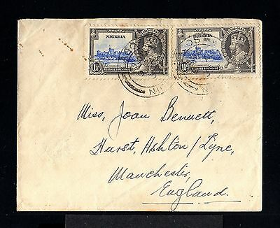 10236-NIGERIA-OLD COVER LAGOS to MANCHESTER (england)1935.WWII.British.