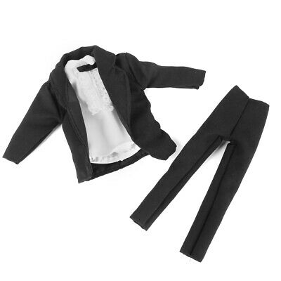 Black Suit Bow Tie Pants Groom Outfit Clothes Clothing for Prince Ken Doll