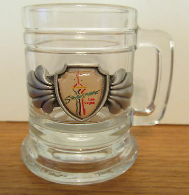 Stratosphere  Las Vegas   Pewter Emblem Mini Stein / Shot Glass