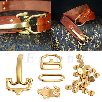 Retro Men's Brass Leather Belt Buckle Craft Littleton Cavalry Bags Fitting Tool