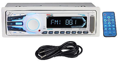 Boss MR1306UA Marine Digital Media Stereo Receiver USB SD AM/FM Radio+Aux Cable