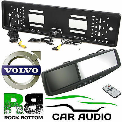 "VOLVO 4.3"" Rear View Reversing Mirror Monitor & Car Number Plate Camera Kit"