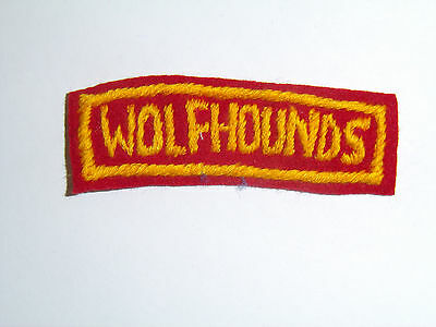 b8762 Korean War US Army Tab Wolfhounds 27th Div Infantry Division Korea R8D