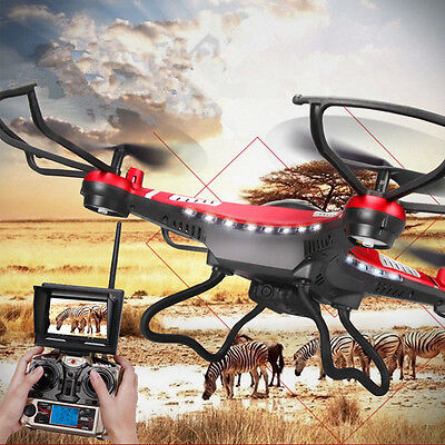 JJRC H8D/H8C6-Axis Gyro 5.8G FPV RC Quadcopter Drone HD Camera With Monitor UK