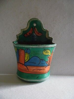 Vintage Southwest Hand Painted Art Pottery Wall Pocket
