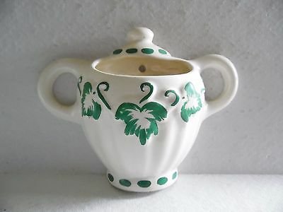 Vintage Ivy Double Handle Ceramic Wall Pocket