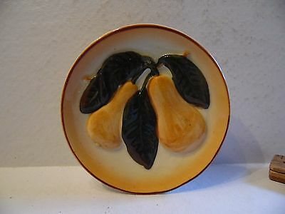 Vintage Ceramic Occupied Japan Small Round Pear Wall Pocket