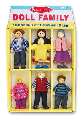 WOODEN  DOLL FAMILY #2464  Melissa & and Doug