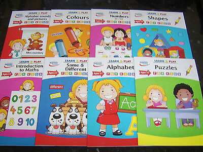educational books for kids play and learn maths counting colours alphabet shapes