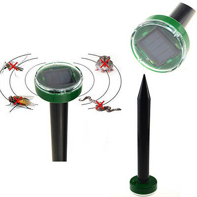 Hot Solar Powered Ground Rodent Mole Mice Mouse Rat Repeller Ultar Sonic Outdoor