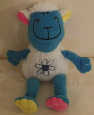 "Blue White Sheep Lamb King Plush 10"" Tall Plush Stuffed Animal Toy"