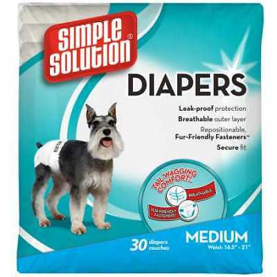Simple Solution Disposable Diapers Medium 30 pack
