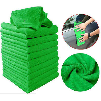 10-Pack Microfiber Cleaning Cloth Anti-Scratch Rag Towel Car Detailing Polishing