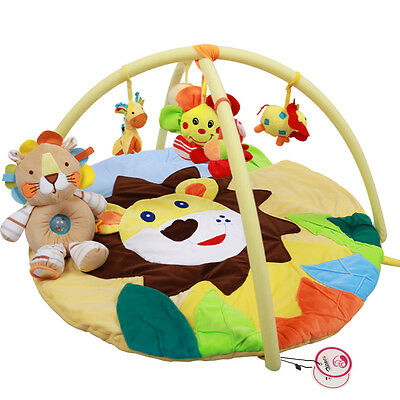 Baby Newborn Soft Play Mat Toy Animal Themes Activity Baby Gym Educational Toys