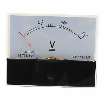 1Pcs Class 1.5 DC 0-600V Analog Voltage Voltmeter Panel Volt Meter 44C2-V