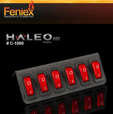 FENIEX  6 SWITCH PANEL for Lights & sirens Police FIRE RESCUE C-1060 HALEO 600