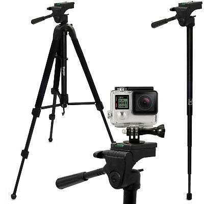 """59"""" Extendable 2 in 1 Tripod & Monopod Mount for GoPro Hero 1 2 3 3+ 4 5 Session"""