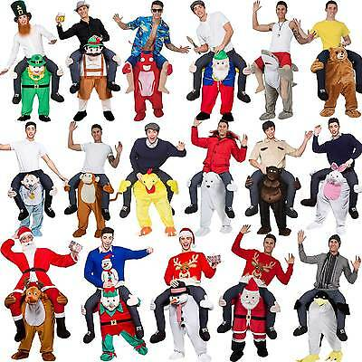 Shoulder Carry Me Piggy Back Ride On Fancy Dress Adult Party Costume Mens Outfit