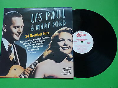 Les Paul & Mary Ford 24 Greatest Hits 6187291 Companion Made West Germany LP 33