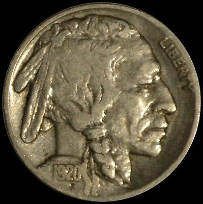 1920 Buffalo Nickel 5C Five Cent United States Coin