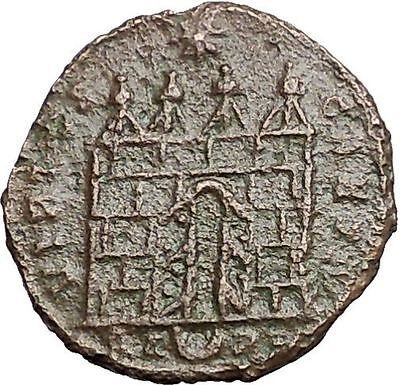 CONSTANTINE II Constantine the Great son Ancient Roman Coin Camp Gate  i55765