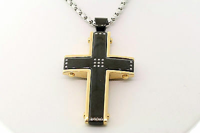 Wholesale Lot of 5 Shaquille O'Neal Diamond Stainless Cross Pendant Necklace