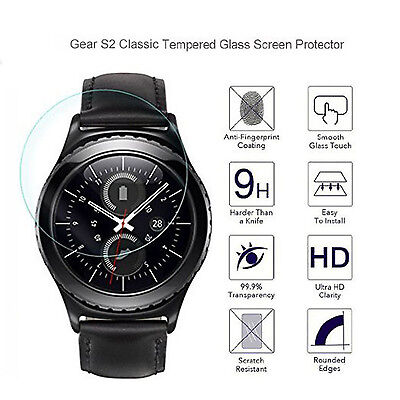For Samsung Gear S2 Classic 9H Tempered Glass Screen Protector Real Premium Film