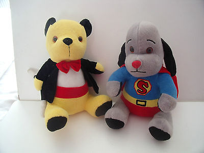 "Magician Sooty  &  Sweep Superman Soft Fur Toys  12"" Tall       - Sooty & Sweep"