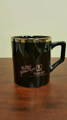 The Real Yellow Pages Southern Bell Black and Gold Coffee Mug B17