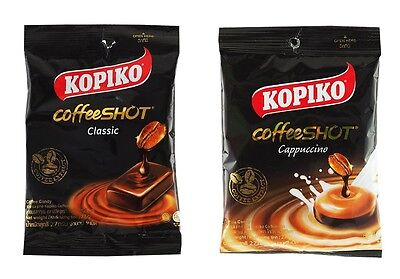 NEW PACK ! KOPIKO CoffeeSHOT COFFEE CANDY CAPUCCINO &CLASSIC BEST SELLER 2014-15