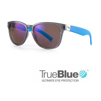 Sundog Golf Fairway TrueBlue Sunglasses (Black-Blue Temple / Smoke Mirror)