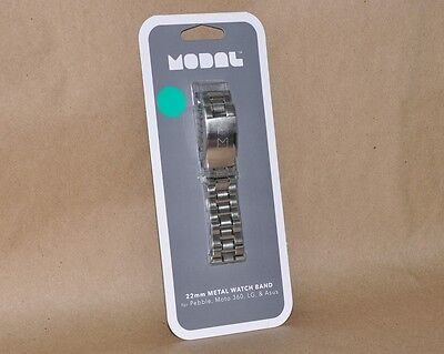 Modal - 22mm Watch Band Silver for Samsung/Moto 360 MD-SWSM22 New Sealed