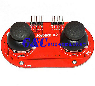 NEW Arduino dual JoyStick Breakout Module Shield PS2 Joystick Game Controller
