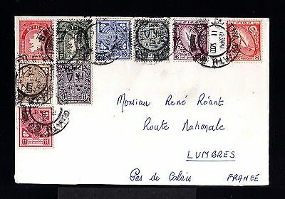 10232-IRELAND-OLD COVER DUBLIN to PAS de CALAIS (france).1964.Irlande.enveloppe.