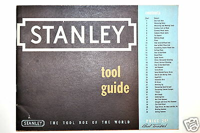 STANLEY TOOL GUIDE 1952 #RR217 how to use & care for Plane Spoke Shave Chisel
