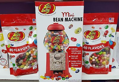 Jelly Belly Jelly Beans ~ MINI BEAN MACHINE and (2) 9.8 oz BAGS TO FILL MACHINE