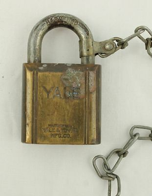 Vintage Yale Hardened Brass #87224 Padlock Pad Lock No Key