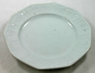 Antique White Ironstone Luncheon Plate T&R Boote