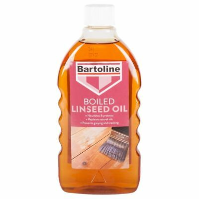 Bartoline Boiled Linseed Oil 500ml Gives a long lasting lasting natural sheen