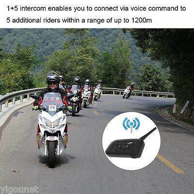 V6 1200M Auriculares Bluetooth Casco de motocicleta Intercomunicador GPS Regalo