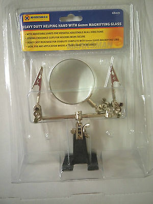 Marksman Heavy Duty Helping Hand With 60mm Magnifying Glass