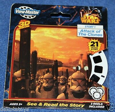 Star Wars Attack Of The Clones 3D View-Master Reels New