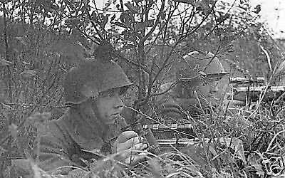 B&W WWII Photo Russian Snipers at Kursk Mosin-Nagant WW2 World War Two / 1081