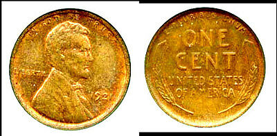 1921-S 1C - Lincoln Cent-98 % Red& Pq