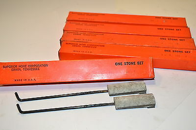 5 NOS Hone Sets SUPERIOR HONE CORPORATION USA 2 Hones per SET #16 8 150 P