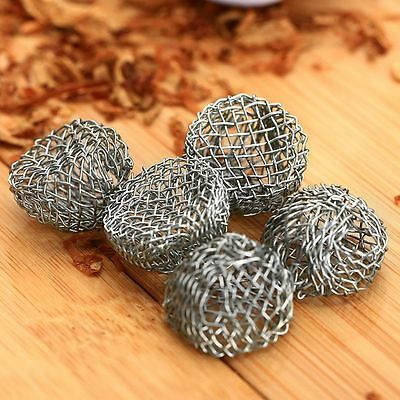 10pcs 17mm Silver Tobacco Smoking Pipe Metal Screen Ball Filter Help Combustion