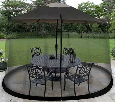 9 Foot Umbrella Table Screen Enclosure Keep Bugs Mosquitoes Out Patio Picnic Net