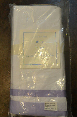 NIP Pottery Barn Kids Baby Lavender Classic HARPER Cotton Crib Bed Skirt