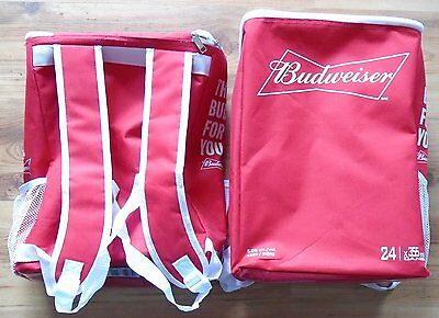 Branded Budweiser Collectible Backpack Cooler Bag Lot Of 2 Promo Item